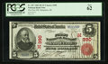 National Bank Notes:Michigan, Marquette, MI - $5 1902 Red Seal Fr. 587 The First NB Ch. # (M)390. ...