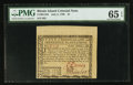 Colonial Notes:Rhode Island, Rhode Island July 2, 1780 $1 PMG Gem Uncirculated 65 EPQ.. ...
