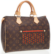 Louis Vuitton Limited Edition Classic Monogram Canvas Perforated Speedy 30 Bag