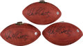 Football Collectibles:Balls, Brett Favre and Mike McCarthy Multi Signed Footballs Lot of 3....