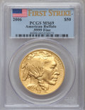 Modern Bullion Coins, 2006 G$50 One-Ounce Gold Buffalo, First Strike MS69 PCGS. .9999Fine. PCGS Population (49814/3304). NGC Census: (37214/4354...
