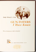 Books:Americana & American History, Orland L. Sims. SIGNED. Gun-Toters I Have Known. Austin:Encino Press, 1967. First edition. Signed at front flypaper...