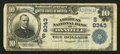 National Bank Notes:Virginia, Danville, VA - $10 1902 Plain Back Fr. 626 The American NB Ch. #(S)9343. ...