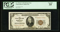 Fr. 1870-I* $20 1929 Federal Reserve Bank Note. PCGS Very Fine 35