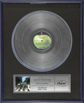 Music Memorabilia:Awards, Beatles Abbey Road Platinum Record Award. ...