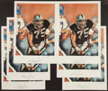 Football Collectibles:Photos, Howie Long Signed Lithographs Lot of 6....