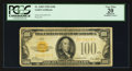 Small Size:Gold Certificates, Fr. 2405 $100 1928 Gold Certificate. PCGS Apparent Very Fine 20.. ...