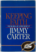 Books:Biography & Memoir, Jimmy Carter. SIGNED. Keeping Faith: Memoirs of a President.New York: Bantam, [1982]. First edition. Signed by Cart...