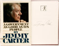 Books:Americana & American History, Jimmy Carter. SIGNED. A Government as Good as its People.New York: Simon and Schuster, [1977]. First edition. Signe...