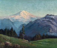 ROBERT WILLIAM WOOD (American, 1889-1979) Mount Rainier, Washington Oil on canvas 25 x 30 inches
