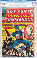 Silver Age (1956-1969):Superhero, Sgt. Fury and His Howling Commandos #13 (Marvel, 1964) CGC VF/NM 9.0 Cream to off-white pages....
