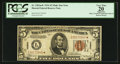 Small Size:World War II Emergency Notes, Fr. 2301* $5 1934 Mule Hawaii Federal Reserve Note. PCGS Apparent Very Fine 20.. ...
