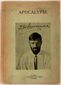 Books:Literature 1900-up, D.H. Lawrence. Apocalypse. Florence: G. Orioli, 1931.Limited edition of 750, of which this is 331. Octavo. Publishe...