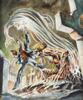 Original Comic Art:Covers, Frank Brunner Monsters Unleashed! #11 Cover Original Art(Marvel, 1975)....