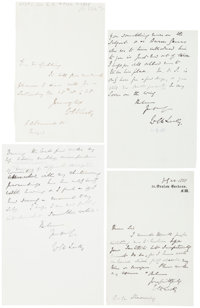"""[William E. H. Lecky]. Group of Four Autograph Letters Signed. All four letters measure around 4"""" x 6"""" and onl..."""