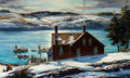Fine Art - Painting, American:Modern  (1900 1949)  , ANDREW WINTER (American, 1892-1958). Quiet Harbor, 1940. Oilon canvas. 24-1/4 x 40-1/4 inches (61.6 x 102.2 cm). Signed...