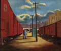 Fine Art - Painting, American:Contemporary   (1950 to present)  , AMERICAN SCHOOL (20th Century). Gilbert Avenue Viaduct. Oilon canvas. 20 x 24 inches (50.8 x 61.0 cm). Signed lower rig...
