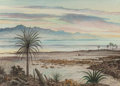 Fine Art - Work on Paper:Watercolor, PETER HURD (American, 1904-1984). Las Cruces Bay,California. Watercolor on paper. 22-1/8 x 30-1/4 inches (56.2 x76.8 c...