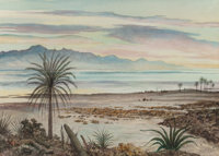 PETER HURD (American, 1904-1984) Las Cruces Bay, California Watercolor on paper 22-1/8 x 30-1/4 i