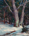 Fine Art - Painting, American:Contemporary   (1950 to present)  , EMILE ALBERT GRUPPE (American, 1896-1978). The Beeches,Gloucester. Oil on canvas. 36 x 30 inches (91.4 x 76.2 cm).Sign...