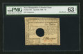 Colonial Notes:New Hampshire, New Hampshire April 29, 1780 $1 PMG Choice Uncirculated 63 Net.....