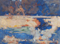 Works on Paper, WILLIAM J. FORSYTH (American, 1854-1935). Untitled Landscape, 1923. Watercolor on paper mounted on panel. 17-3/8 x 23-3/...