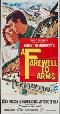 "A Farewell to Arms & Other Lot (20th Century Fox, 1958). Three Sheets (2) (41"" X 79""). War. ... (Total: 2..."
