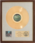 Music Memorabilia:Awards, Beatles Abbey Road Gold Sales Award. ...