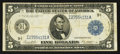 Fr. 879a $5 1914 Federal Reserve Note Very Fine