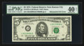 Error Notes:Mismatched Serial Numbers, Fr. 1973-J $5 1974 Federal Reserve Note. PMG Extremely Fine 40 Net.. ...
