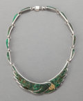 Silver & Vertu:Smalls & Jewelry, AN EMILIA CASTILLO MEXICAN SILVER, MIXED METAL AND HARDSTONE NECKLACE . Emilia Castillo, Taxco, Mexico, circa 2000. Marks: ...