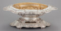 Silver Holloware, American:Center Pieces, A GORHAM SILVER REPOUSSÉ CENTER BOWL WITH GILT METAL FLOWER FROGINSERT. Gorham Manufacturing Co., Providence, Rhode Island,...(Total: 3 Items)