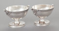 Silver Holloware, American:Open Salts, A PAIR OF JOHN WENDT SILVER OPEN SALTS. John R. Wendt & Co.,New York, New York, circa 1860. Marks: BALL, BLACK & CO.,925... (Total: 2 Items)