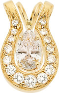 Estate Jewelry:Pendants and Lockets, Colored Diamond, Diamond, Gold Pendants. ... (Total: 2 Items)