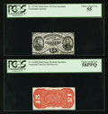 Fractional Currency:Third Issue, Fr. 1274SP/1276SP 15¢ Third Issue PCGS Choice About New 55/Choice About New 58PPQ Narrow Margin Specimen Pair.. ... (Total: 2 notes)