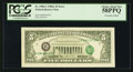 Error Notes:Third Printing on Reverse, Fr. 1980-G $5 1988A Federal Reserve Note. PCGS Choice About New 58PPQ.. ...
