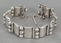 Silver Smalls:Other , A HÉCTOR AGUILAR MEXICAN SILVER BRACELET . Héctor Aguilar, Taxco,Mexico, circa 1943. Marks: HA (conjoined), 990,TAXC...