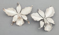 Silver Smalls:Other , A PAIR OF HÉCTOR AGUILAR MEXICAN SILVER BROOCHES . Héctor Aguilar,Taxco, Mexico, circa 1940-1945. Marks: HA (conjoined)...(Total: 2 Items)