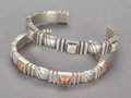 Silver Smalls:Other , TWO WILLIAM SPRATLING MEXICAN SILVER AND COPPER BANGLES . WilliamSpratling, Taxco, Mexico, circa 1940. Marks: SPRATLING, ...(Total: 2 Items)