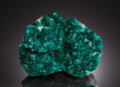 Minerals:Cabinet Specimens, DIOPTASE (Two Generations) on CALCITE. Tsumeb Mine (TsumcorpMine), Tsumeb, Otjikoto Region (Oshikoto), Namibia. ...