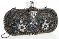 Marchesa Full Bead Crystal Minaudiere Clutch Bag