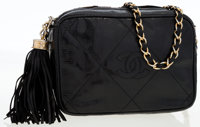 Chanel Black Lizard Camera Bag with Gold Hardware
