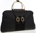 Luxury Accessories:Bags, Gucci Black Leather Tote Bag with Brushed Gold Hardware. ...