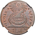 Colonials, 1787 1C Fugio Cent, STATES UNITED, 4 Cinquefoils, Pointed Rays MS64 Brown NGC. N. 11-X, W-6790, R.4. ...
