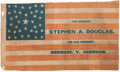 Political:Textile Display (pre-1896), Stephen Douglas: Large and Attractive Parade Flag....