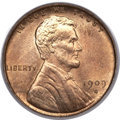 Lincoln Cents, 1909-S VDB 1C MS65 Red PCGS. CAC....