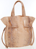 Luxury Accessories:Bags, Nancy Gonzalez Shiny Python Tote with Drawstring Closure. ...