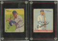 Autographs:Sports Cards, 1933 Goudey Baseball Autographed Cards Group Lot of 2 . Nice pairof signed cards from the most popular of the early basebal...