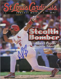 Autographs:Others, Albert Pujols Signed Gameday Program. The Cards' amazing sluggersigns the St. Louis Cardinals Gameday magazine from his ro...