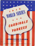 Autographs:Others, 1943 World Series Program Signed by Members of the St. LouisCardinals . From the St. Louis side of the 1943 World Series w...